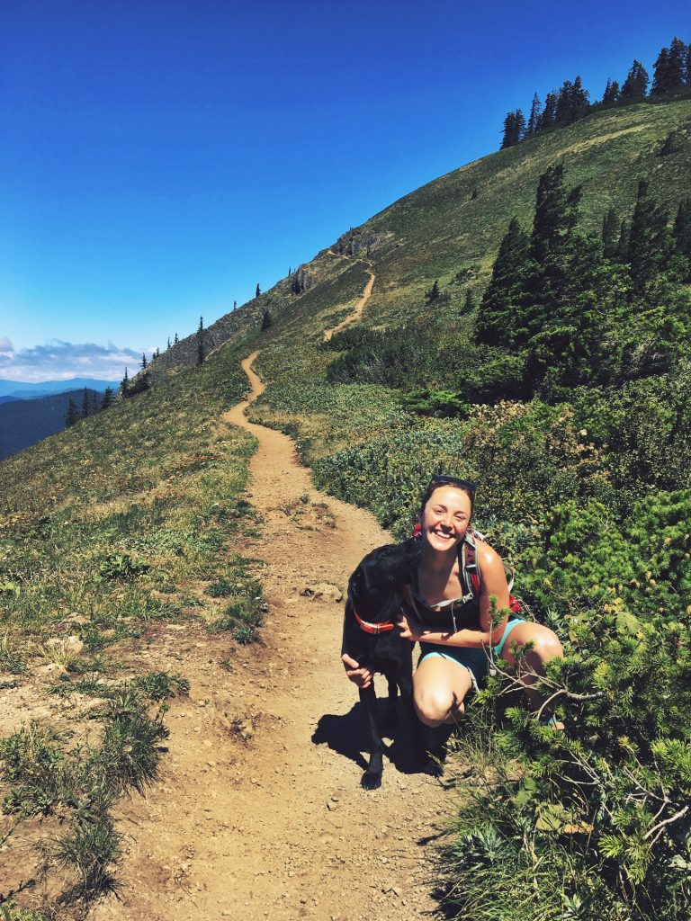 Laura Wood out and about hiking in Oregon. She spent three months interning with Willamette Partnership this summer. Now she's getting ready for her final year in grad school at Duke University.
