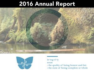 2016 Annual Report: Integrity