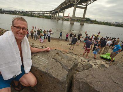 Mayor Wheeler Celebrates Portland's Poet's Beach