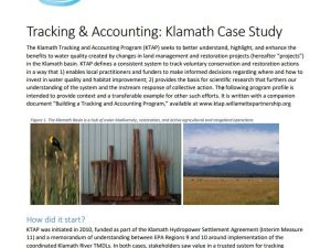 Case Study: Klamath Tracking and Accounting Program