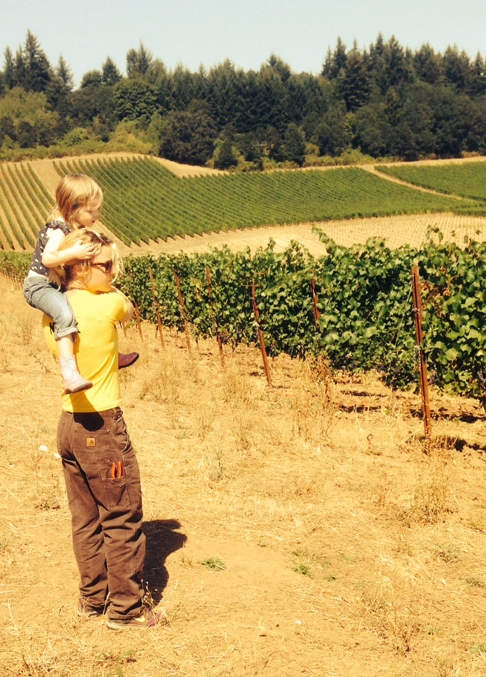 Mimi Casteel with her daughter Nora_courtesy Bethel Heights Vineyards