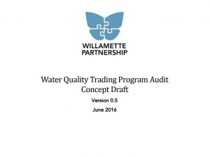 Water Quality Trading Program Audit: A Concept Draft