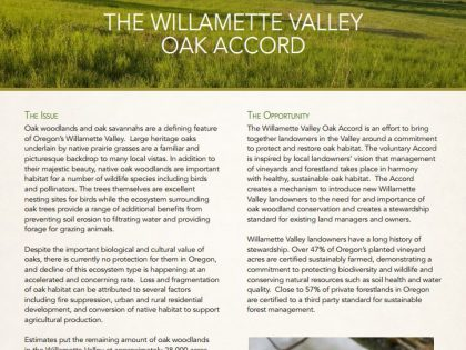 The Oak Accord Fact Sheet