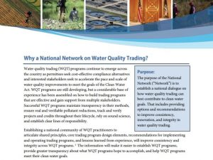Overview: National Network on Water Quality Trading