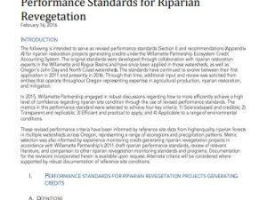 Performance Standards for Riparian Revegetation