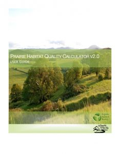prairie habitat quality calculator user guide