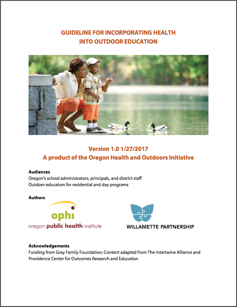 guideline for health in outdoor education cover 2017