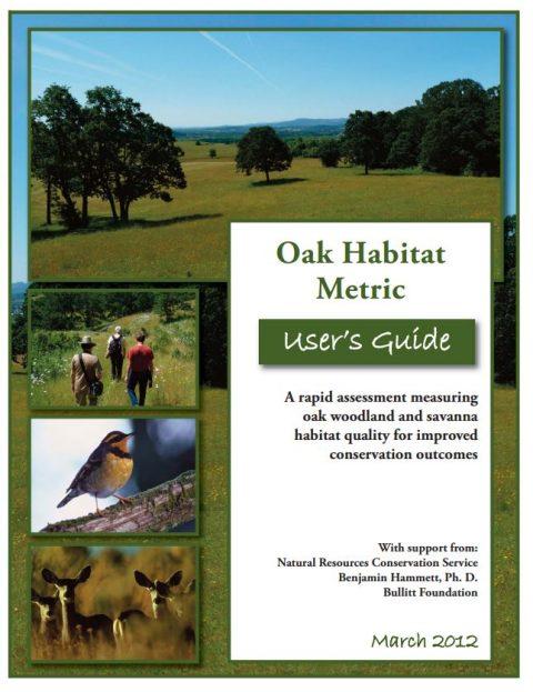 oak habitat metric user guide cover