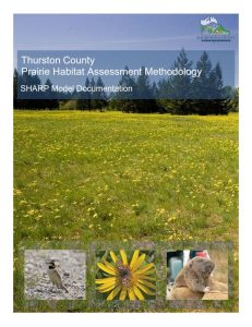 prairie habitat assessment methodology SHARP model cover