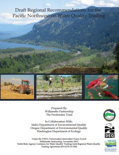 regional recommendations on pnw water quality trading cover