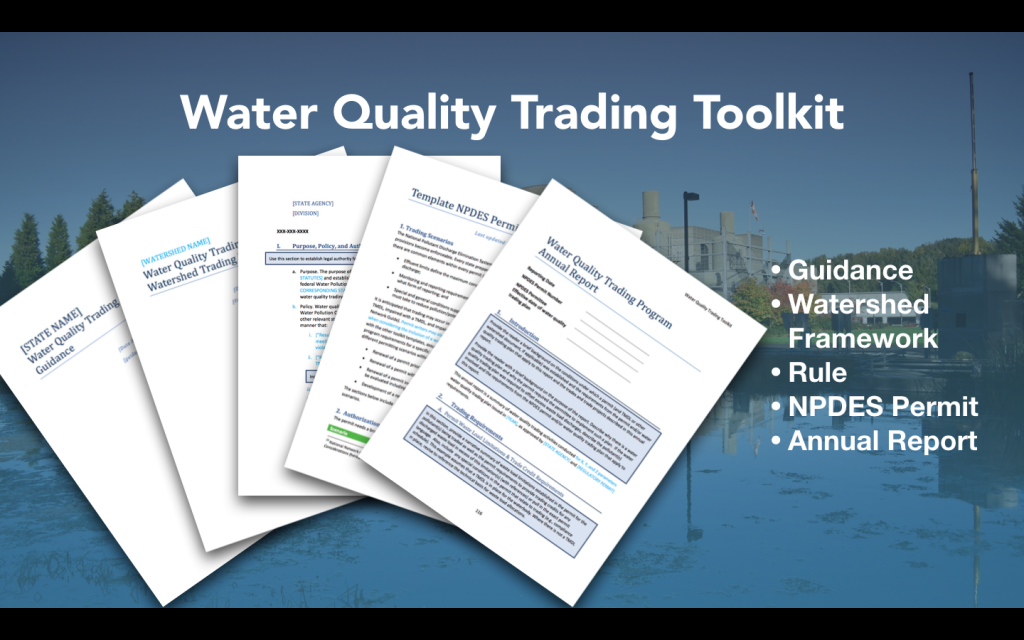 Video of water quality trading toolkit templates