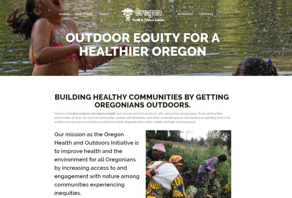 Oregon Health & Outdoors Initiative website