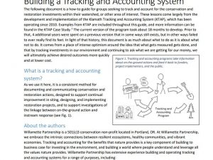 Building a Tracking and Accounting Program