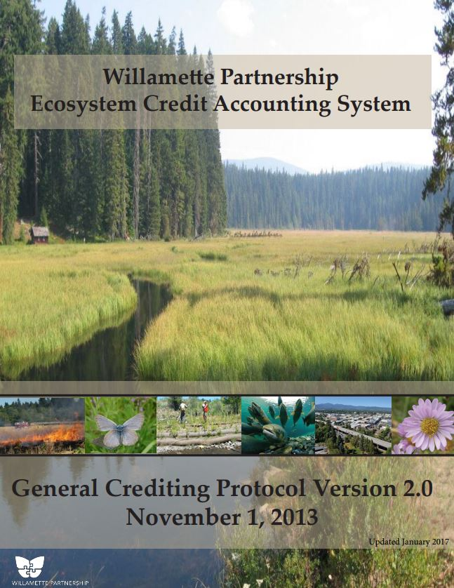 general crediting protocol willamette partnership ecosystem credit accounting system