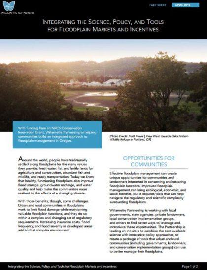 Fact Sheet: Integrated Floodplain Management