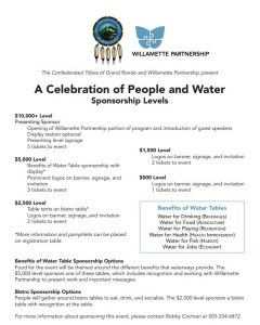 sponsorship levels fundraiser 2017 celebration people water
