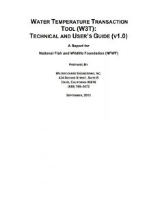 water temperature transaction tool user guide cover