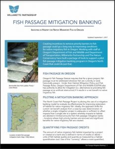 fish passage mitigation banking fact sheet cover