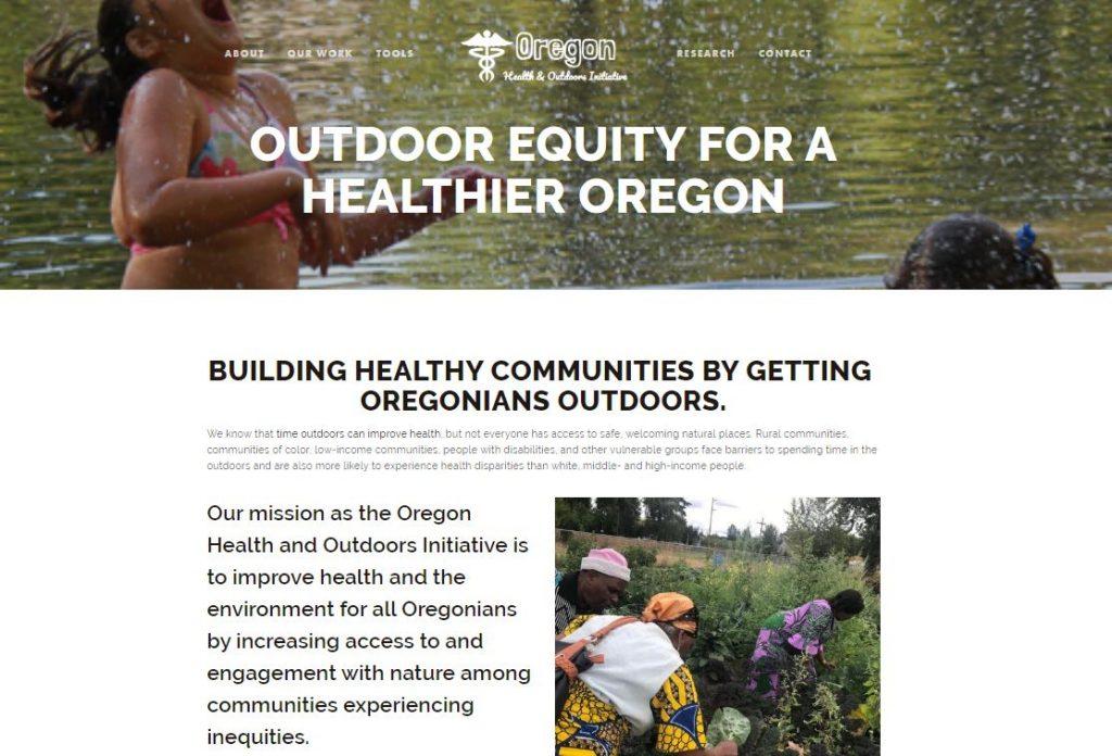 Oregon Health & Outdoors Initiative website