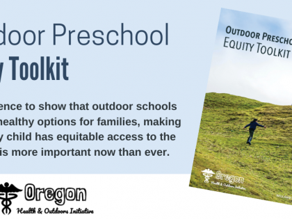 Outdoor Preschool as an Equity and Resilience Tool for Communities